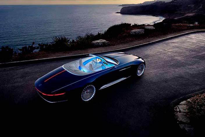 Электрический кабриолет Mercedes-Maybach 6 Concept