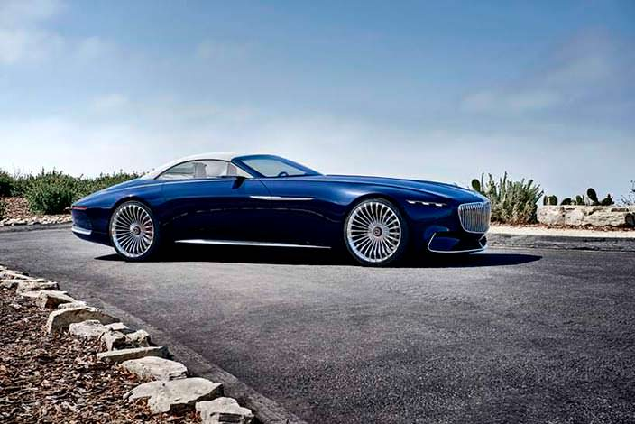 Vision Mercedes-Maybach 6 Cabriolet Concept. Пеббл-Бич 2017