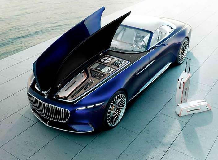 Капот крылья птицы Vision Mercedes-Maybach 6 Cabriolet Concept