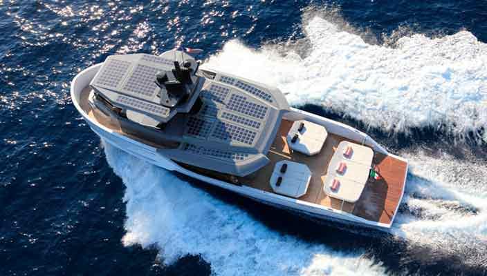 Arcadia Yachts выпустила катер с солнечными батареями Sherpa