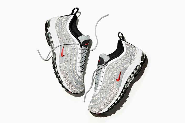 Осенние женские кроссовки с кристаллами Swarovski от Nike