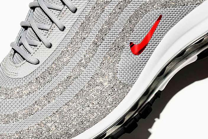 Бриллиантовые кроссовки Nike Air Max 97 LX Swarovski Edition