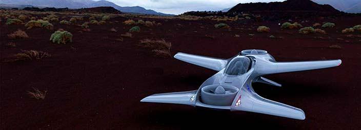 Летающий автомобиль Delorean Aerospace DR-7: F1 в небе
