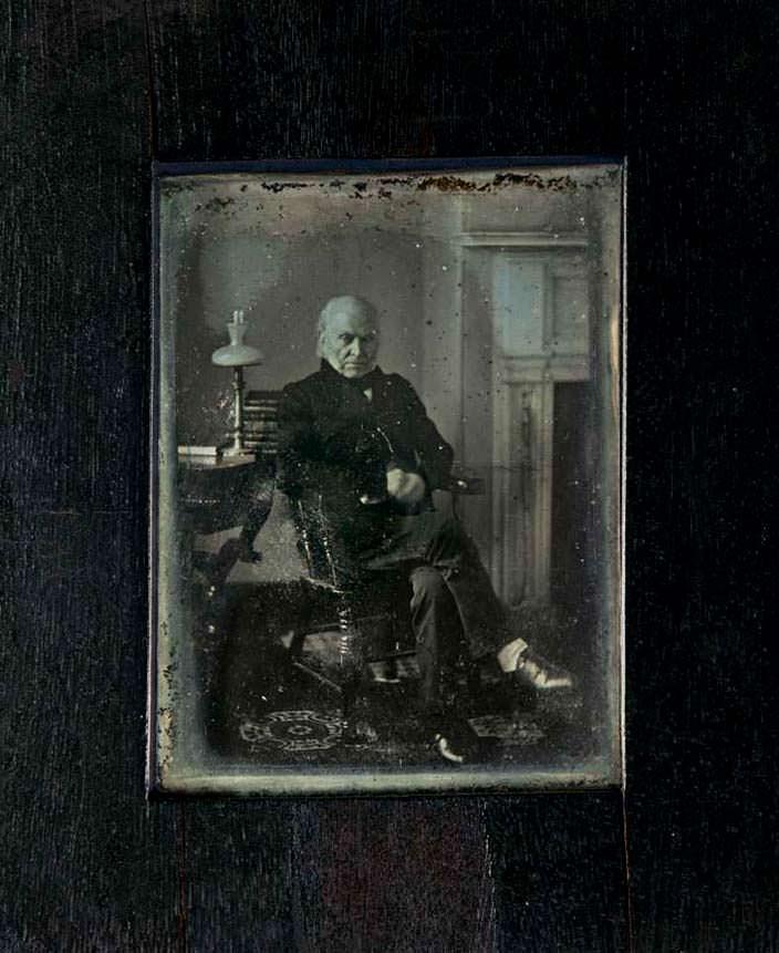 Первое фото президента США. Джон Куинси Адамс. 1843 год
