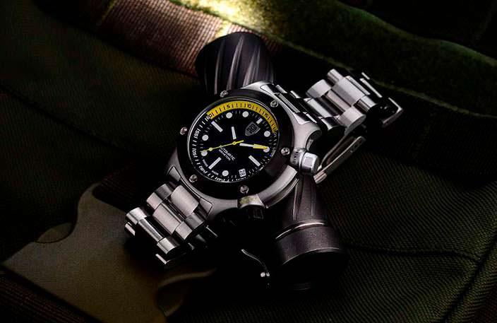 Rebel AquaFin: лучшие швейцарские дайверские часы до $500
