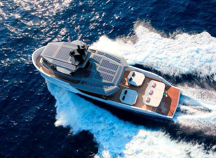 Катер с солнечными панелями Sherpa от Arcadia Yachts