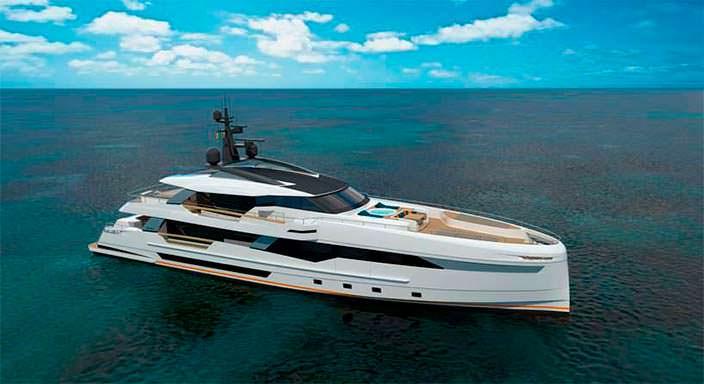 Спортивная яхта Wider Yachts 130 с пляжным клубом