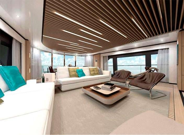 Фото интерьера спортивной яхты Wider Yachts 130