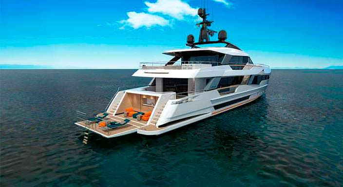 Яхта Wider Yachts 130: трансформируемый пляжный клуб