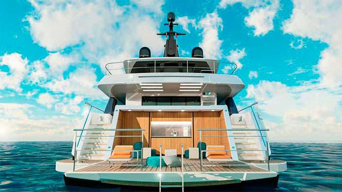 Пляжный клуб на яхте Wider Yachts 130