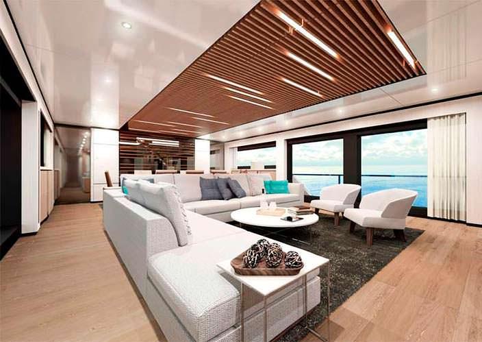 Дизайн салона яхты Wider Yachts 130