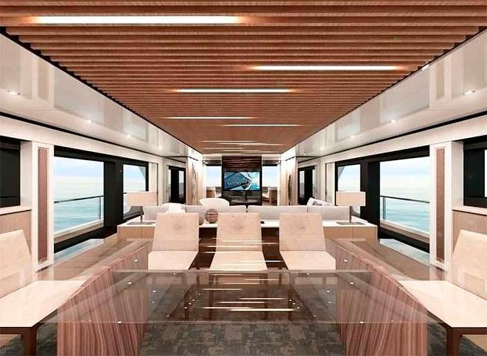Дизайн интерьера яхты Wider Yachts 130