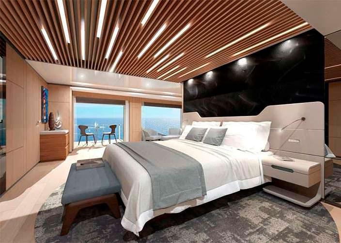 Хозяйская каюта яхты Wider Yachts 130