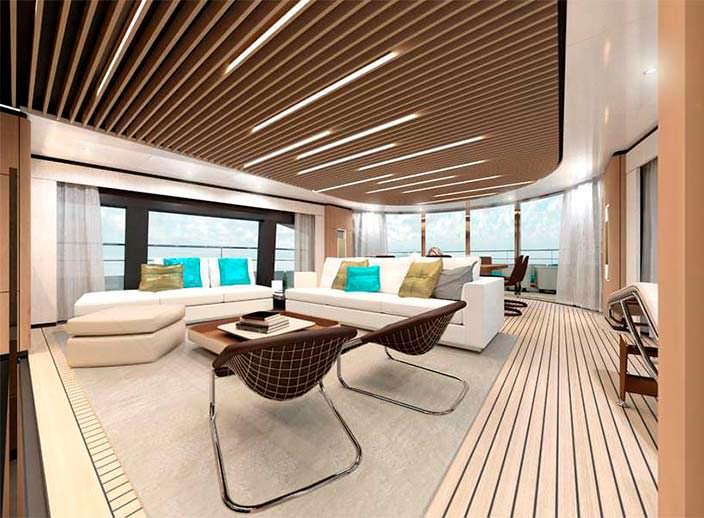 Фото интерьера яхты Wider Yachts 130