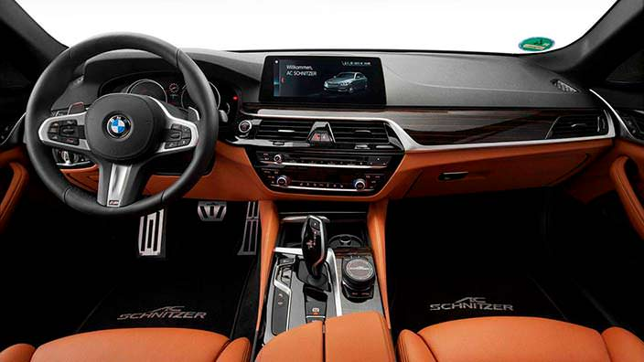 Фото салона BMW 5-Series 2018. Тюнинг от AC Schnitzer