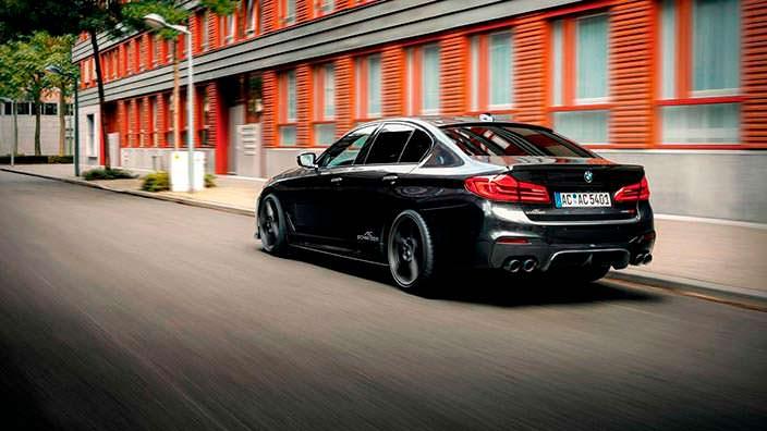 Чёрная BMW 5-Series G30. Тюнинг от AC Schnitzer