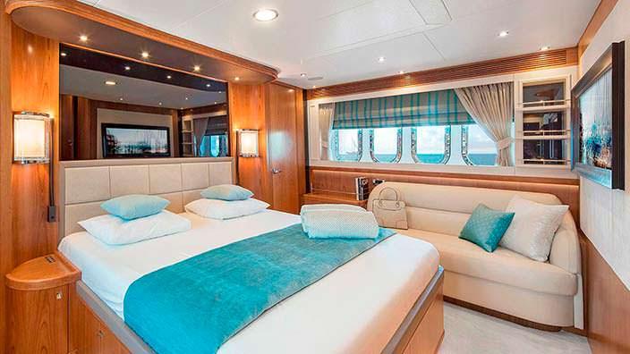 Дизайн мастер-каюты на борту яхты Anemeli от Van der Valk