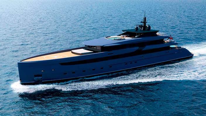 Яхта F65 длиной 65,6-метра. Дизайнер Марко Феррари