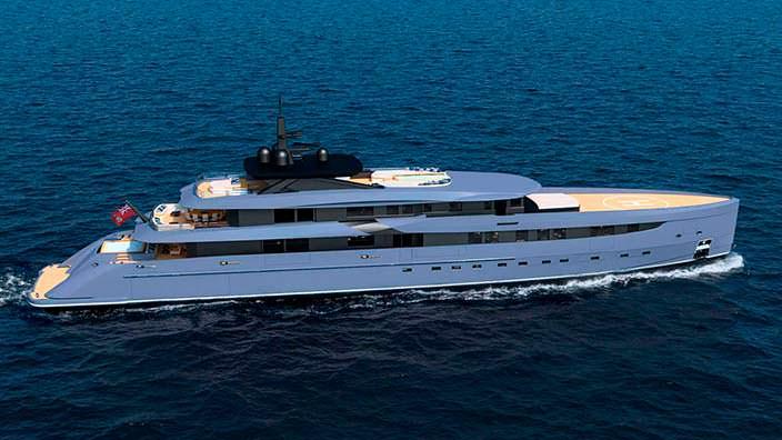 Яхта в стальном корпусе F65. Дизайнер Марко Феррари