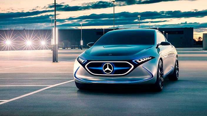 Компактный хэтчбек электрокар Mercedes EQ A Concept