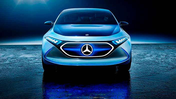 Электрокар Mercedes EQ A Concept в режиме Sport