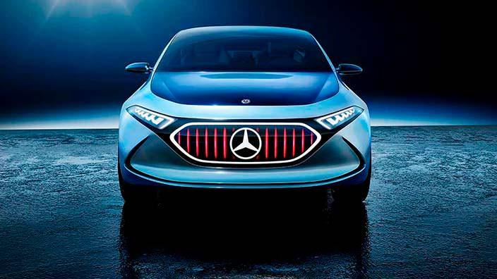 Электрокар Mercedes EQ A Concept в режиме Sport Plus