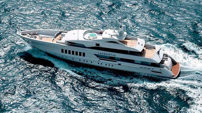 Голландская яхта Laurentia от Heesen Yachts. Длина 55 метров