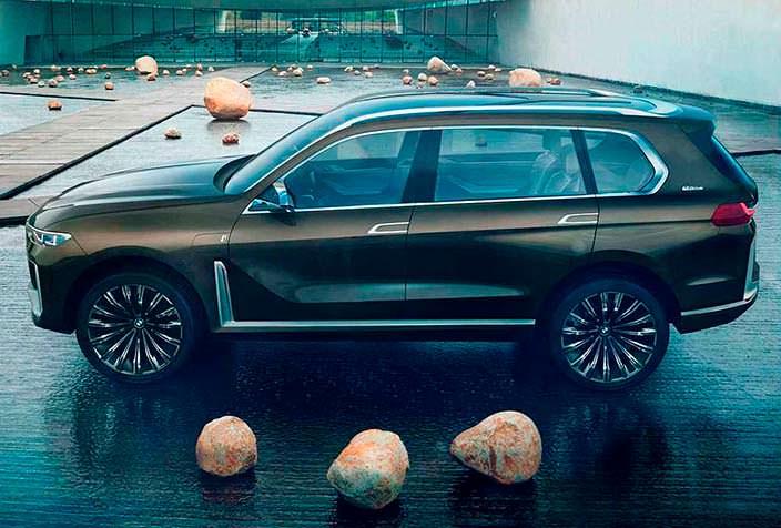 Огромный внедорожник BMW X7 iPerformance Concept 2017