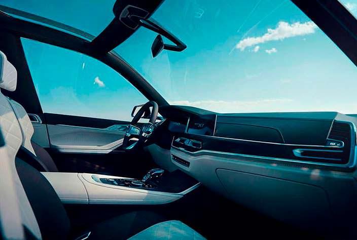 Панорамный салон BMW X7 iPerformance Concept