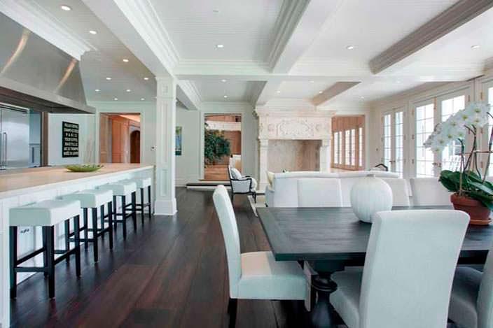 Дизайн кухни-столовой в доме Бейонсе и Jay-Z на Лонг-Айленде