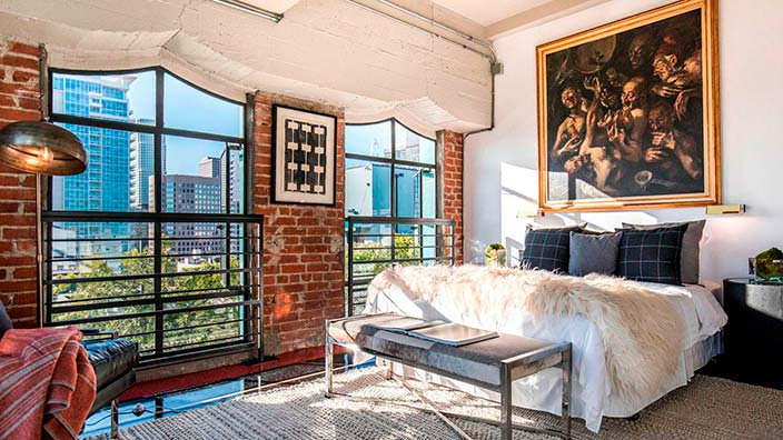 Дизайн спальни в пентхаусе Джонни Деппа