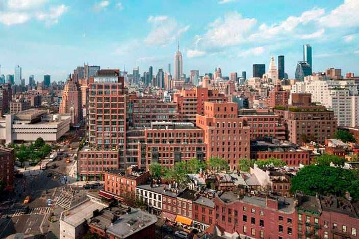 Панорамный вид на центр Манхэттена из квартиры Бон Джови