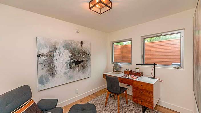 Кабинет в стиле модерн в доме Синди Кроуфорд