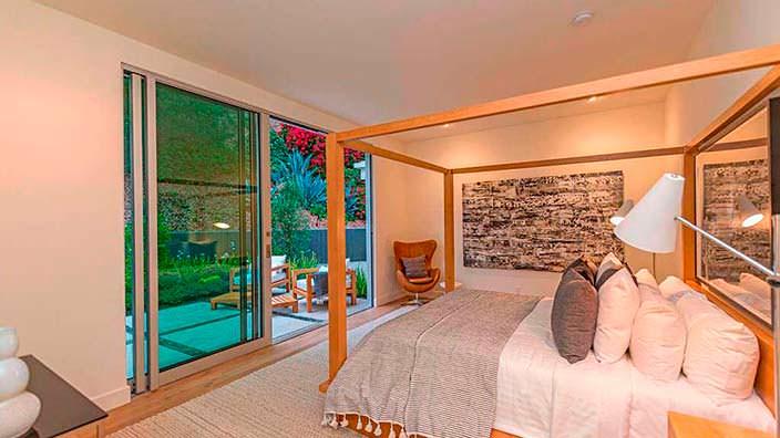 Дизайн одной из спален в доме Синди Кроуфорд