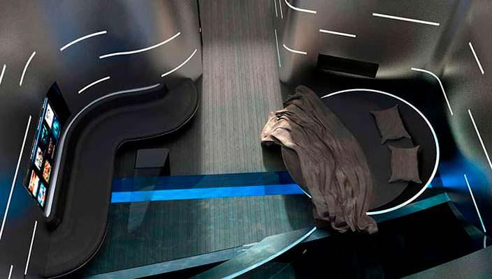 Футуристический интерьер каюты яхты Cauta. Дизайнер Тимур Бозджа