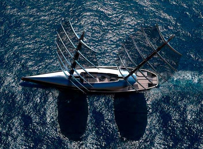 Парусная яхта Cauta длиной 55 метров с двумя мачтами