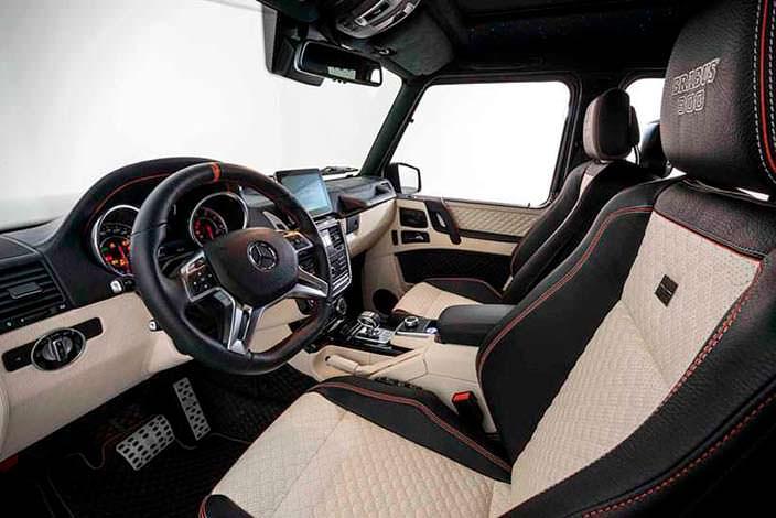 Фото салона Mercedes-AMG G65 от Brabus