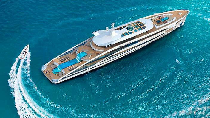 Maximus: яхта с двумя бассейнами и водопадами от Heesen Yachts