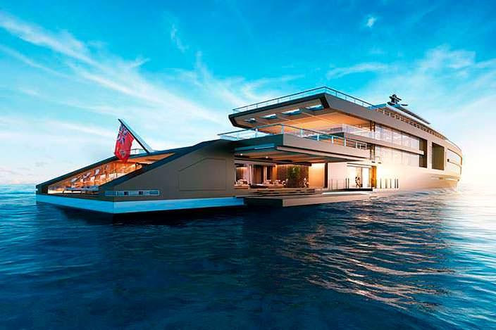 Яхта Nature длиной 120 метров. Новаторский дизайн Sinot