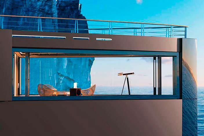 Яхта Sinot Nature. Панорамная обсерватория в носовой части