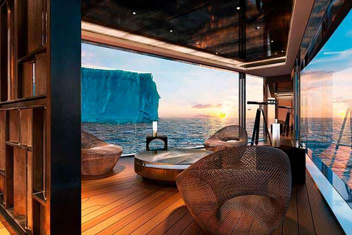 Дизайн обсерватории на яхте Sinot Nature