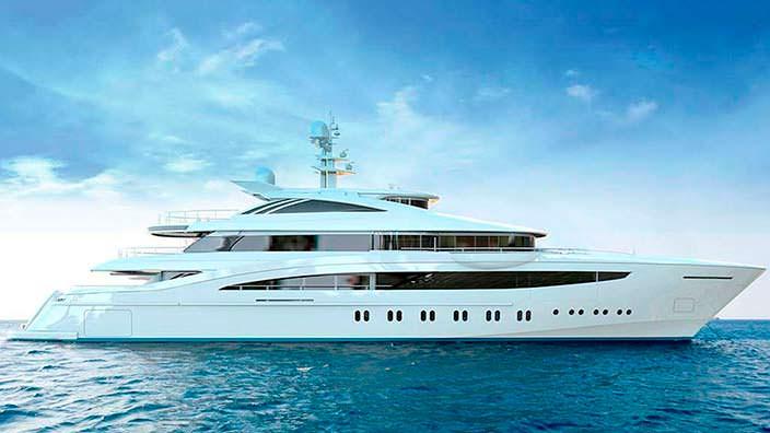 Новая яхта Rossinavi Project Florentia. Длина 52 метра
