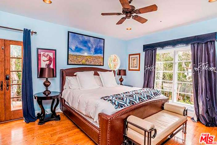Спальня в доме Кендалл Дженнер