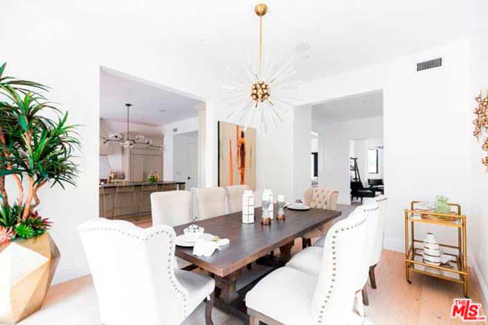 Дизайн интерьера столовой в доме Серены Уильямс