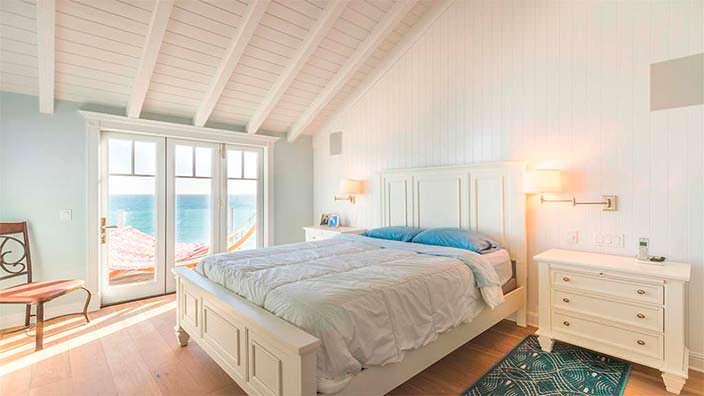 Спальня со сводчатым потолком