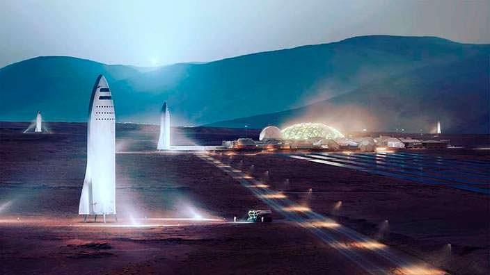 Илон Маск: Город на Марсе Martian City