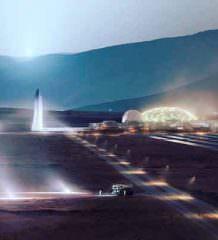 Илон Маск показал проекты базы на Луне и города на Марсе