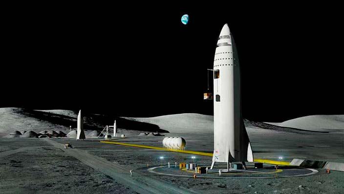 Илон Маск продемонстрировал проекты базы наЛуне игорода наМарсе