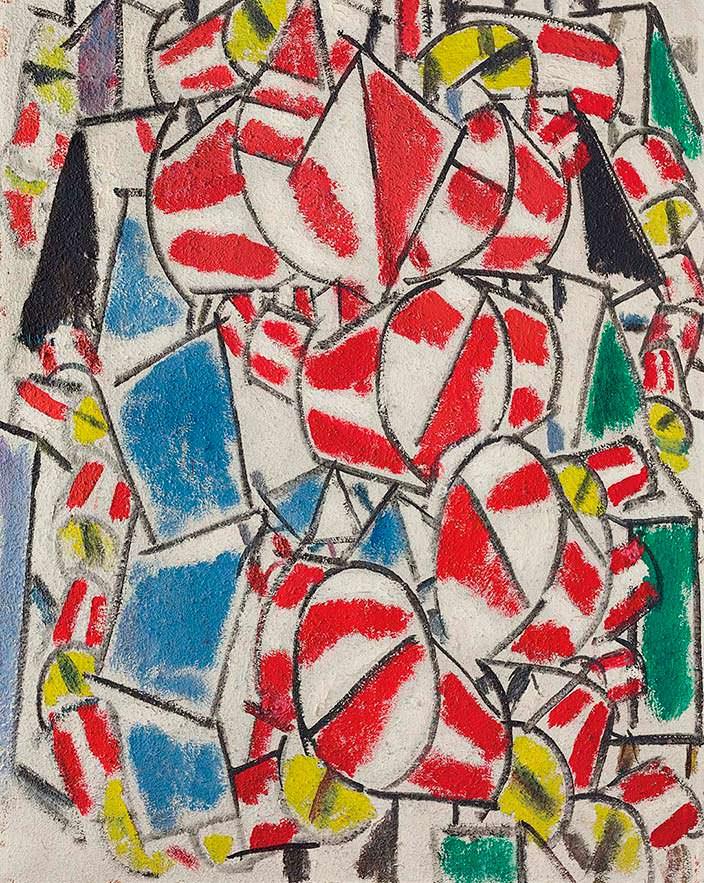 Картина Фернана Леже «Контраст форм» 1913 года