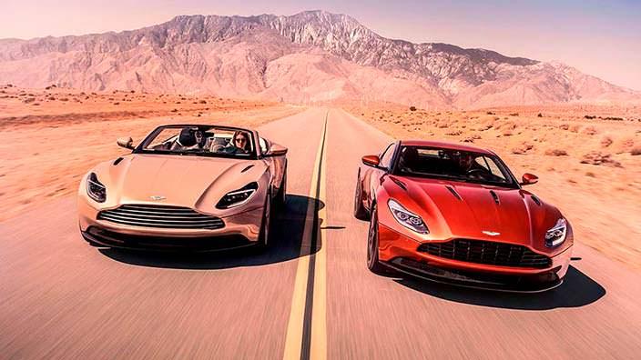 Кабриолет и купе Aston Martin DB11